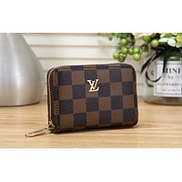 LV 2019 new female organ card holder credit card set small purse coffee check