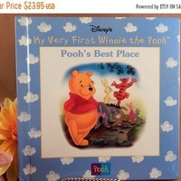 Book Poohs Best Place Disneys My Very First Winnie the Pooh Vintage 1999 Illustrated Animal Picture Story Gift Book for Children