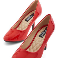 ModCloth Minimal Boogie Downtown Heel in Red