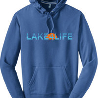 Retro Sunset Great Lakes hoodie - Lake4Life - Promoting and preserving the Great Lakes lifestyle