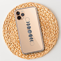 Moon Phases Clear Phone Case