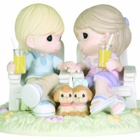 """Precious Moments, Thinking Of You Gifts, """"Always Be By My Side"""", Bisque Porcelain Figurine, #104018"""