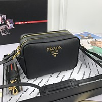 Prada Women Leather Shoulder Bag Satchel Tote Bag Handbag Shopping Leather Tote Crossbody Satchel Shouder Bag