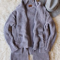 The Boston Bundle Sweater in Gray