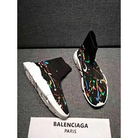 Balenciaga Speed Trainers Stretch Knit Mid Sneakers Style #13