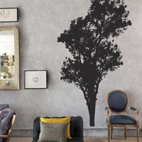 Ik9-wall Decal Sticker Room Decor Wall Art Mural Strict Tree Living Room Bedroom Strict Wood Silhouette's Strict Dining Room Kitchen Bedroom Living Room