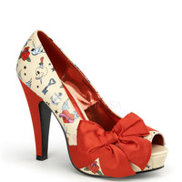 Pinup Couture Bettie Tattoo Platforms