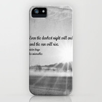 Les Miserables Quote Victor Hugo iPhone Case by KimberosePhotography   Society6