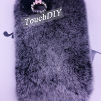 Gray Fur iPhone 4 Case iPhone 4s Cute Case iPhone 5c Case iPhone 5s iPhone 6 Case iPhone 6 Plus Case Fluffy iPhone 5 Cover note 4 Galaxy s5