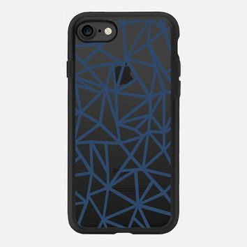 Abstraction Dense Navy Transparent iPhone 7 Case by Project M | Casetify