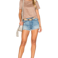 1. STATE Faux Suede Top in Light Truffle   REVOLVE