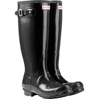 Hunter Ladies' Original Tall Gloss Rain Boot-Black