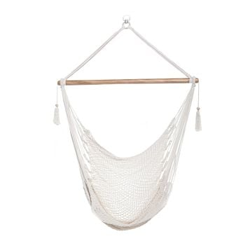 Mission Hammocks Hanging Hammock Chair Cotton - Bright White