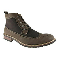 New Men's 806278A Denim Perforated  Wing Tip Dress Boots