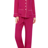 Gigi Long Sleeved Silk Pajamas Set
