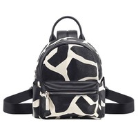 Cool Backpack school Cow Leopard Style PU Backpack New Zipper Fashion Cool 3D Mini Backpack AT_52_3