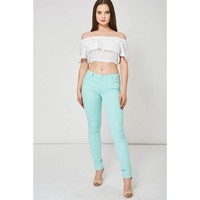 Mint Green Stretchy Jeans
