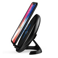 Universal QI Wireless Charger W/Cooling Fan Fast Charger  Stand Pad for Samsung Note 8 iPhone X 8