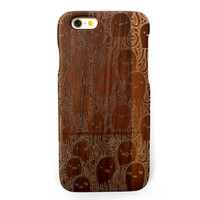 Handmade DIY Retro True Wood Wooden Case For IPhone6G/6S&6Plus/6SPlus Octopus Protective Shell Genuine Cover