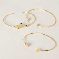 Hoja Bracelet Set by Anthropologie Gold One Size Bracelets
