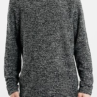 Men's Topman Boucle Knit Sweatshirt,