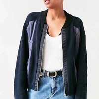 BDG Zip-Up Bomber Sweater - Urban Outfitters
