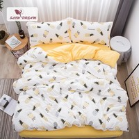 SlowDream Pineapple Bedding Set Nordic Comforter Bedspread Double Bed Sheet Set Duvet Cover Queen King Adult Bed Linens Set