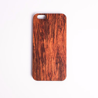 Natural Wood iPhone Case 7 & 7 Plus  (Rosewood)