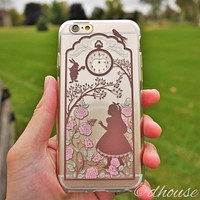 Alice in Wonderland Soft Clear iPhone Case