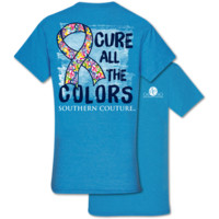 Southern Couture Classic Cure All The Colors Cancer T-Shirt