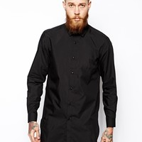 ASOS Smart Shirt In Longline With Long Sleeves