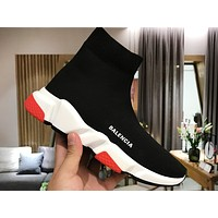 Balenciaga popular pair of classic knitted stretch socks and shoes Speed Trainer