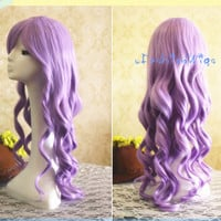 60cm Long Purple Beautiful Lolita Cosplay Wig, Costume Wigs for Party UF043