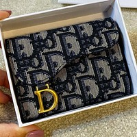 Dior New Fashion More Letter Print Canvas Wallet Purse Handbag