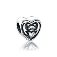 Bling Jewelry Celtic Friendship Claddagh Bead 925 Silver Fits Pandora