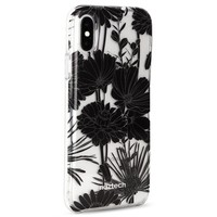 Naztech Hybrid PC TPU Clear Phone Cases for iPhone X 10 Black Floral