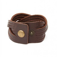 The Idle Man Leather Cuff - Jewellery - Accessories | Shop for Men's clothing | The Idle Man