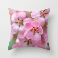 Pinkies Throw Pillow by Lisa Argyropoulos