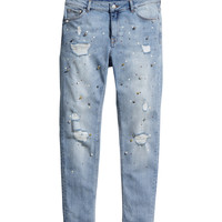 H&M - Girlfriend Jeans - Light denim blue - Ladies