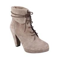 TAARA TAUPE SUEDE women's bootie high lace up - Steve Madden