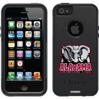 OtterBox iPhone 5/5S Black Commuter Series Case with Alabama Mascot Design by Coveroo