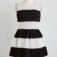 Short Length Sleeveless A-line Just That Stripe of Gal Dress by ModCloth