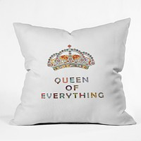 Bianca Green Queen Of Everything Throw Pillow