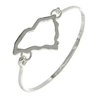 Silver South Carolina Bangle