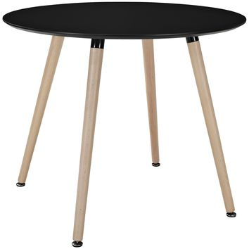 Track Round Dining Table Black EEI-1055-BLK