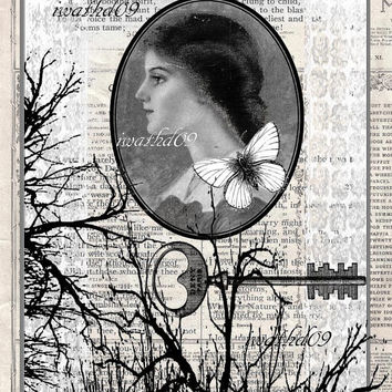 Steampunk printable gift digital download 300 dpi commercial use jpeg Victorian art journal supply instant download antique wall art