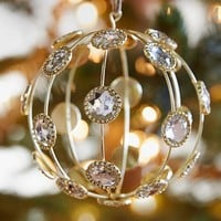 Caged Jewel Sphere Ornament