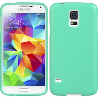 DW Premium Candy Skin TPU Case for Samsung Galaxy S5 - Mint Green Teal