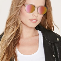 High-Shine Round Sunglasses | Forever 21 - 1000153768