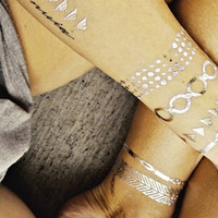 WRAP ME IN GOLD TEMPORARY TATTOO SET